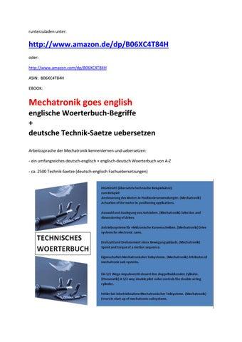 Inhaltsangabe zu neuerscheinung: mechatronik goes english by ...