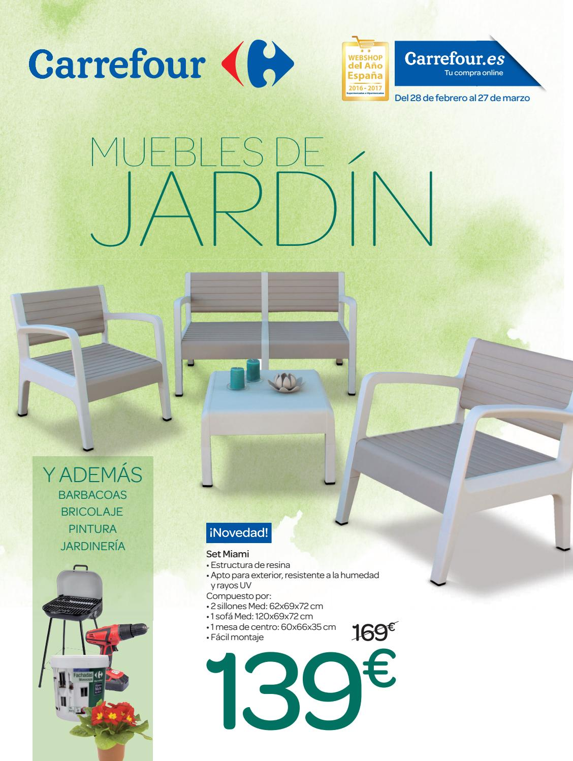 Muebles de jardin carrefour by ofertas supermercados issuu for Muebles resina carrefour