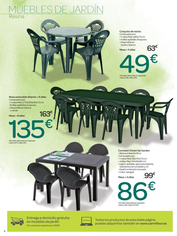 Muebles de jardin carrefour by ofertas supermercados issuu for Oferta sillas jardin
