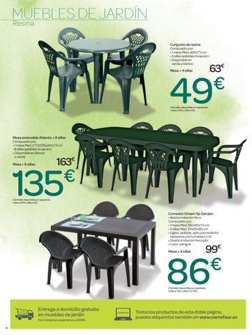Muebles de jardin Carrefour by Ofertas Supermercados - issuu