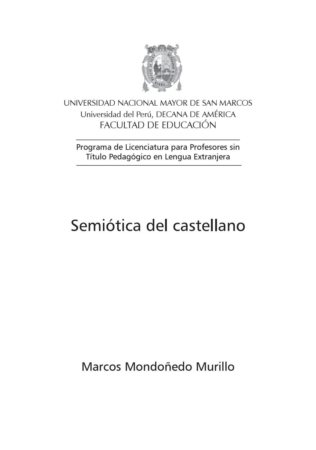 Semiotica del castellano by UNMSM-PROLEX - issuu