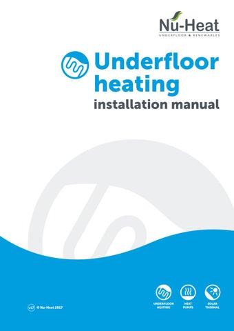 underfloor heating installation manual