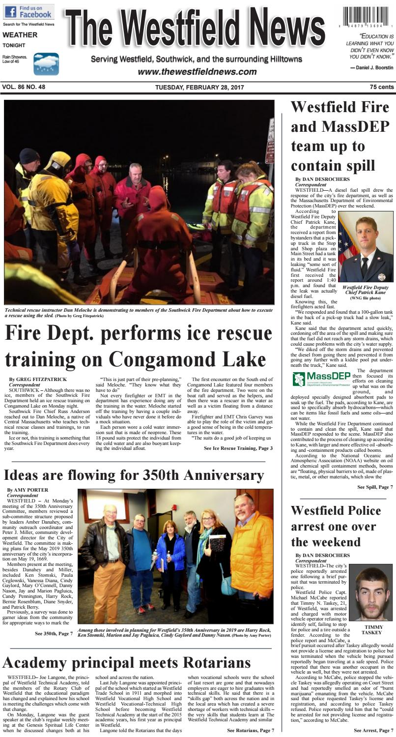 Tuesday, February 28, 2017 by The Westfield News - issuu