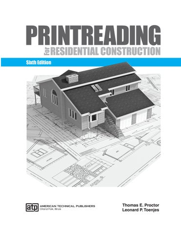 printreading for residential construction by american technicalamerican technical publishers orland park, illinois thomas e proctor