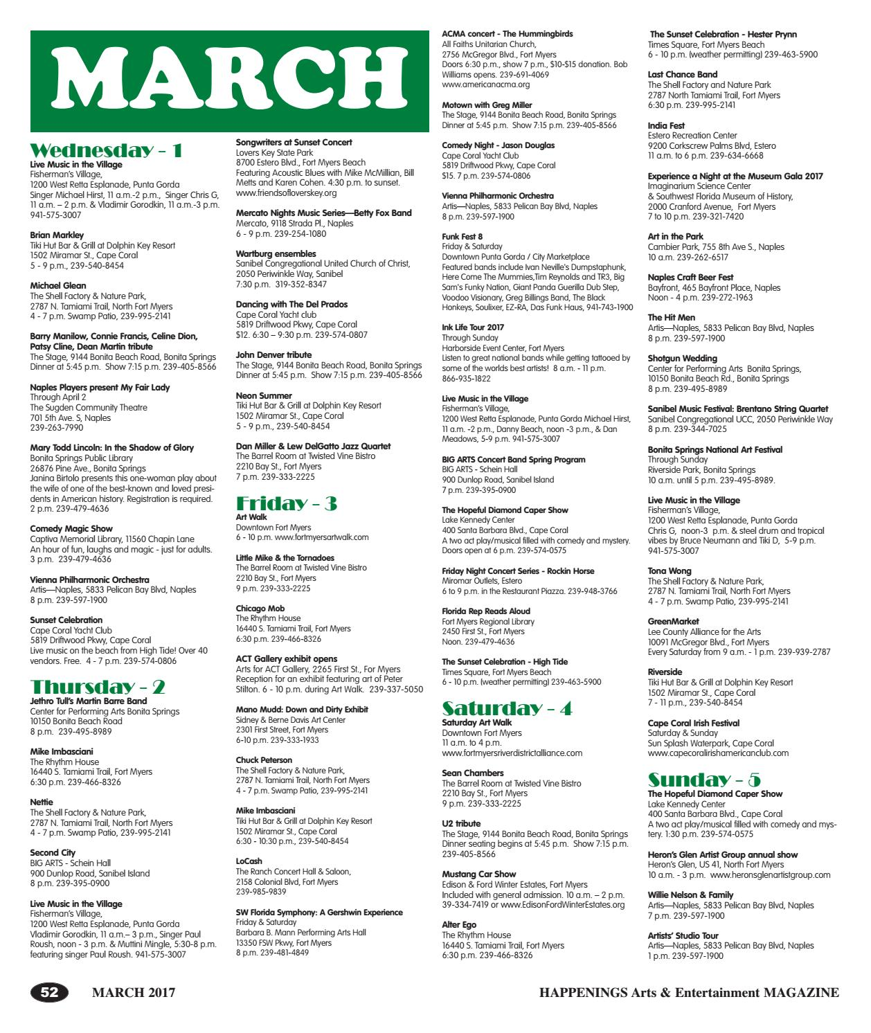 March 2017 Happenings Magazine by SW FL Happenings Magazine