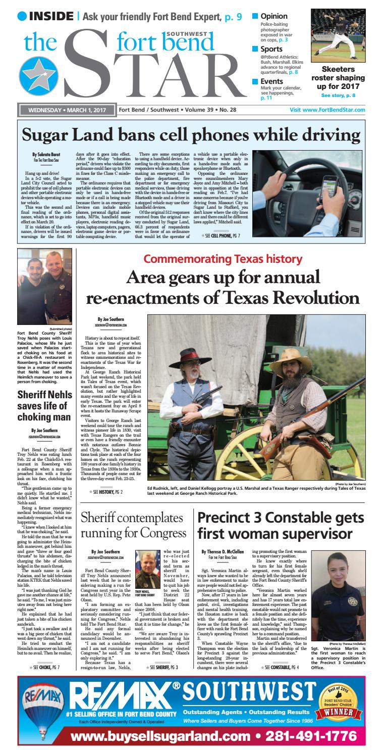 March 1, 2017 - Fort Bend Community Newspaper by Fort Bend Star ...