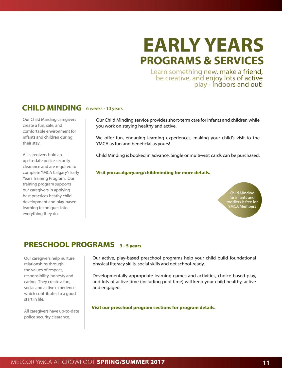 Melcor YMCA at Crowfoot Spring/Summer Guide 2017 by YMCA