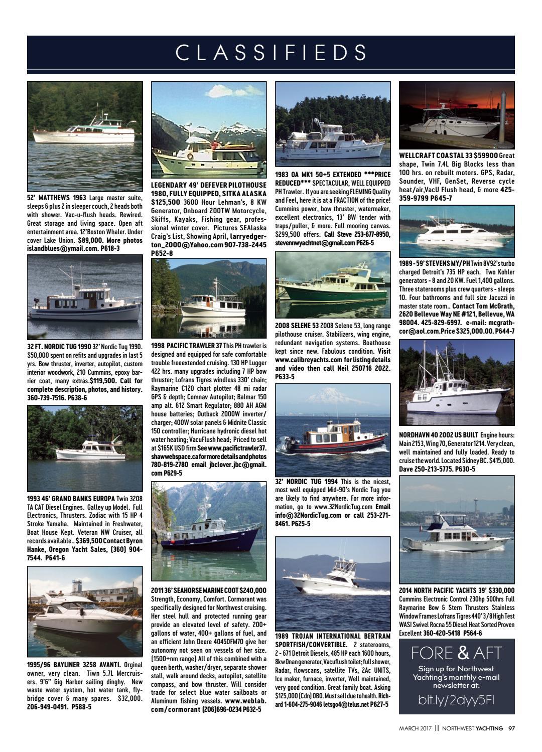 Phenomenal Northwest Yachting March 2017 By Northwest Yachting Issuu Creativecarmelina Interior Chair Design Creativecarmelinacom