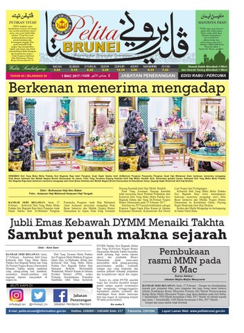 Pelita Brunei Rabu 01 Mac 2017 By Putera Katak Brunei Issuu