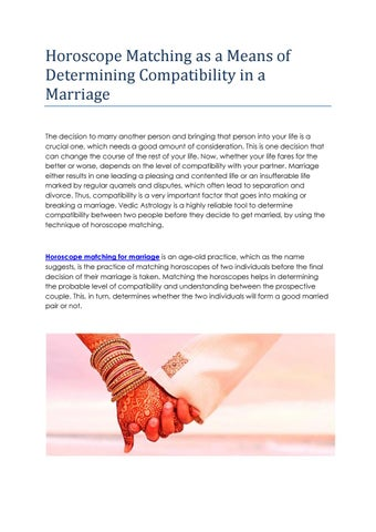 Horoscope matching for marriage by Astrology Garden - issuu