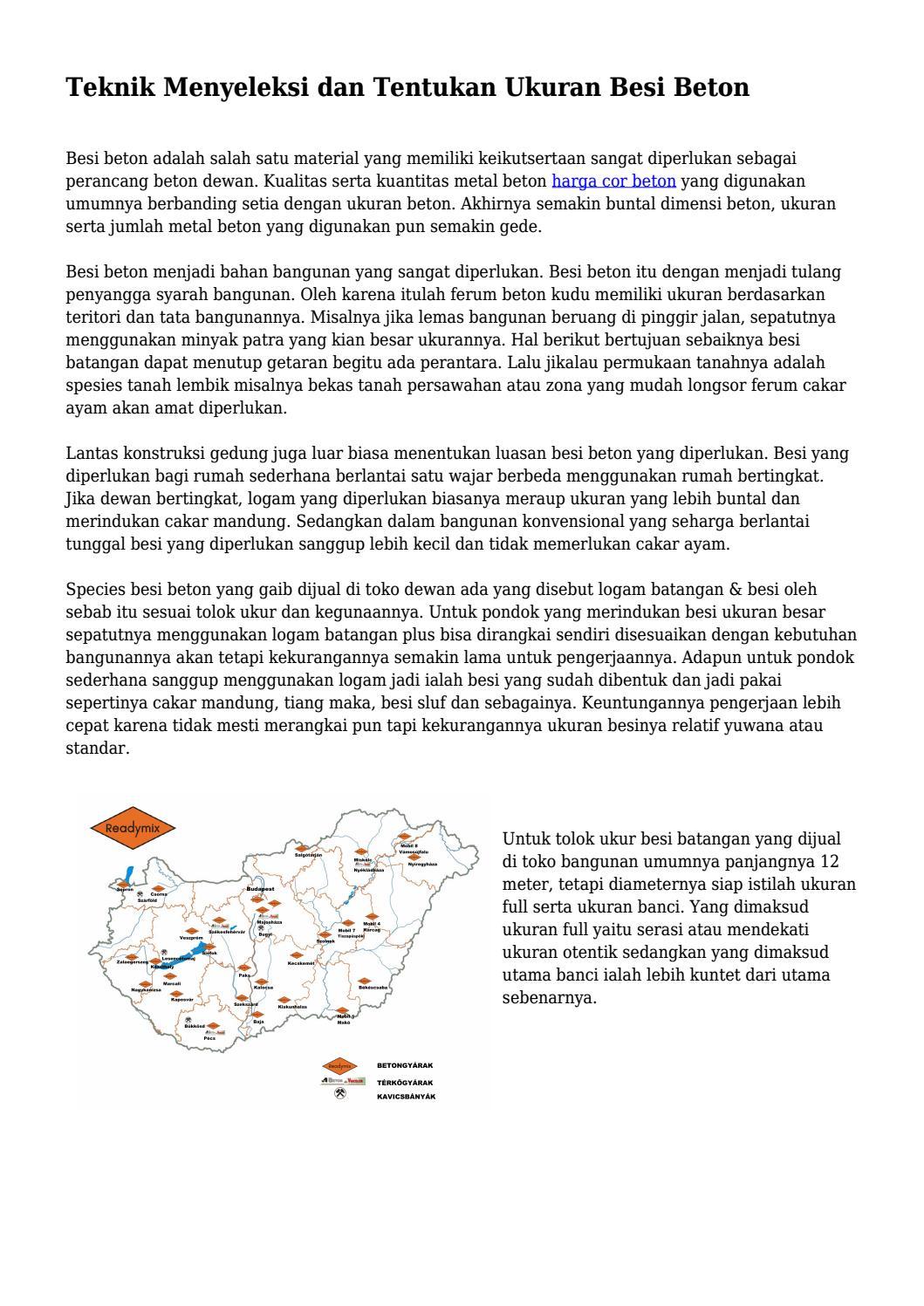 Teknik Menyeleksi Dan Tentukan Ukuran Besi Beton By Pinbisniscorp Issuu