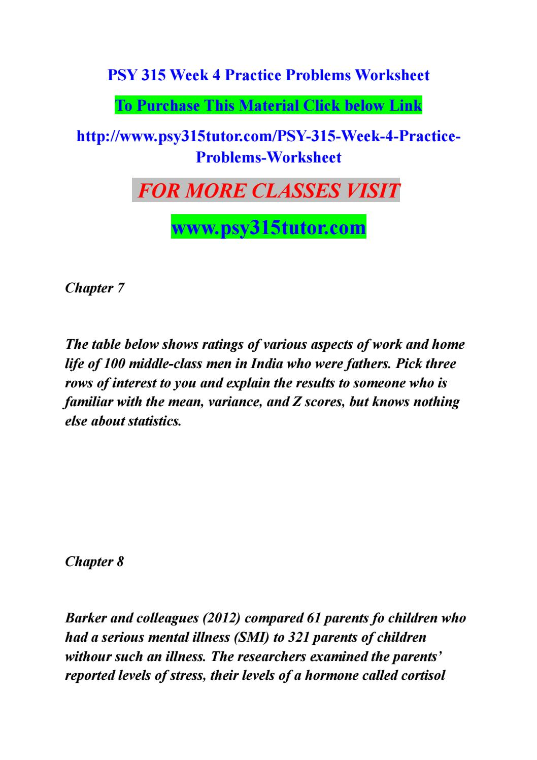 psy 315 week 4 practice problems worksheet by rohitamsh2 issuu. Black Bedroom Furniture Sets. Home Design Ideas