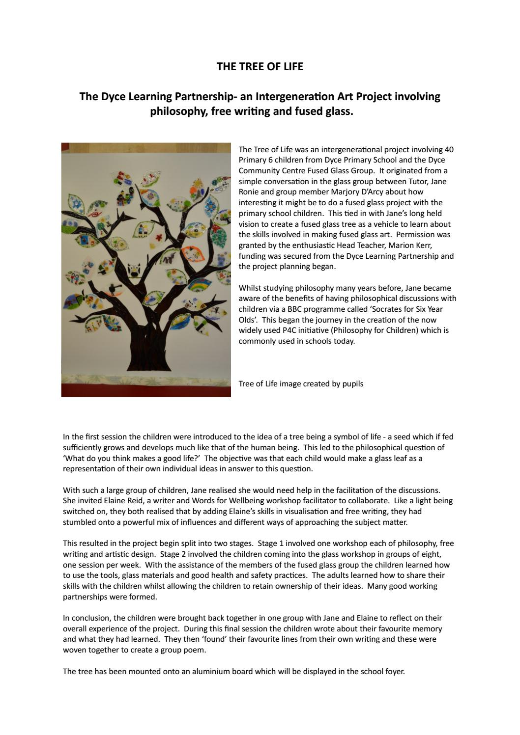 Write up fused glass tree hamish cattanach by Hamish