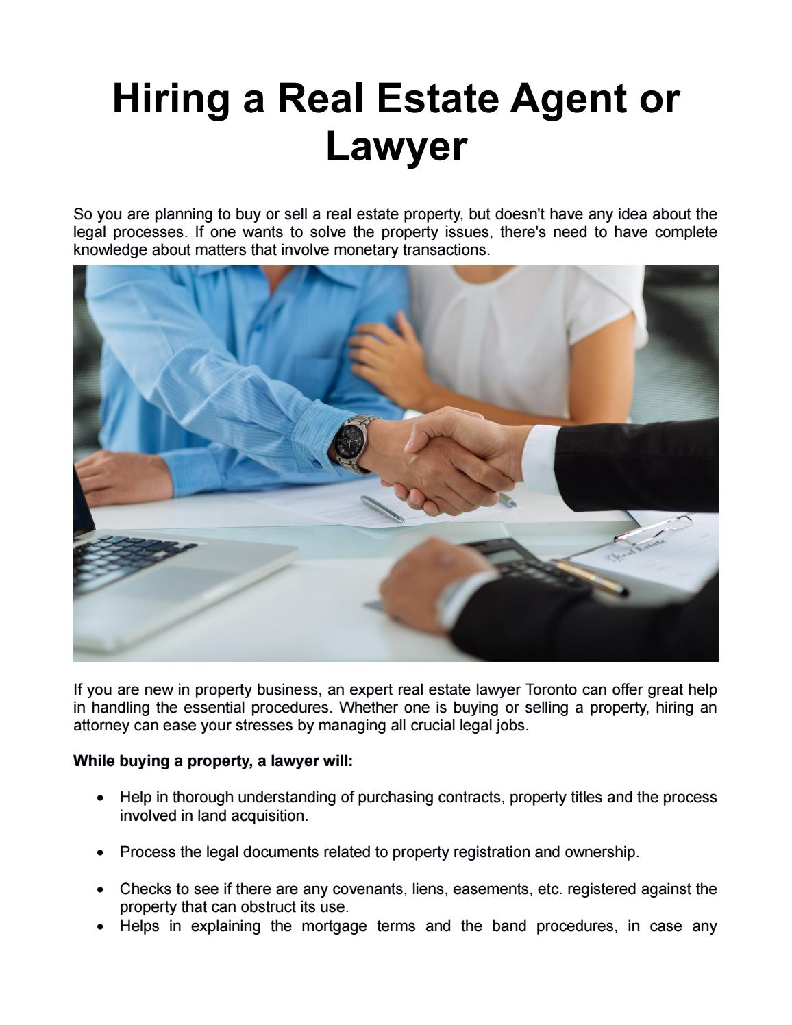 Hiring A Real Estate Agent Or Lawyer By Home Closing Costs Issuu - Real estate legal documents