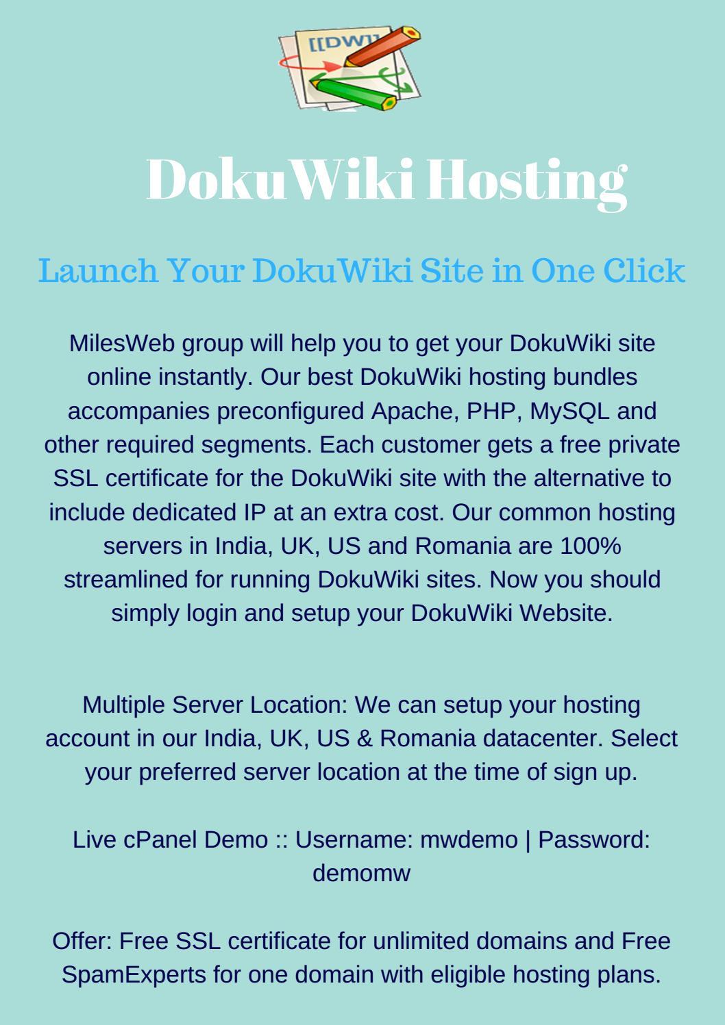 Best dokuwiki hosting by milesweb issuu 1betcityfo Images