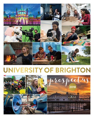 d2d2ad284252 University of Brighton Undergraduate Prospectus 2018 by University ...