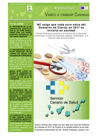165b7d7bf2137 Boletín VIII febrero 2017 by Nueva Canarias - issuu