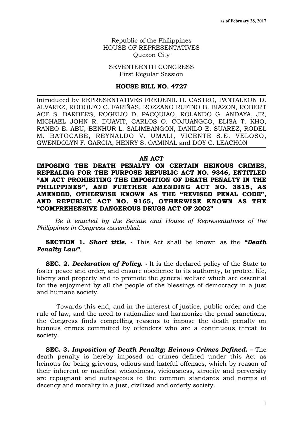 death penalty bill inches closer to approval on ash wednesday substitute bill death penalty as 29fc444c448267 1 month ago inquirerdotnet