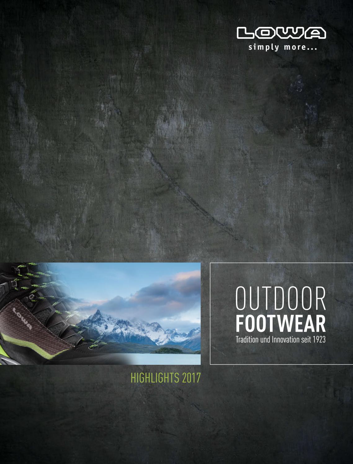 LOWA Outdoor Footwear Highlights 2017 by Schöffel LOWA