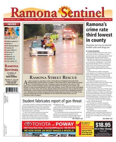 Ramona sentinel 03 02 17 by MainStreet Media - issuu
