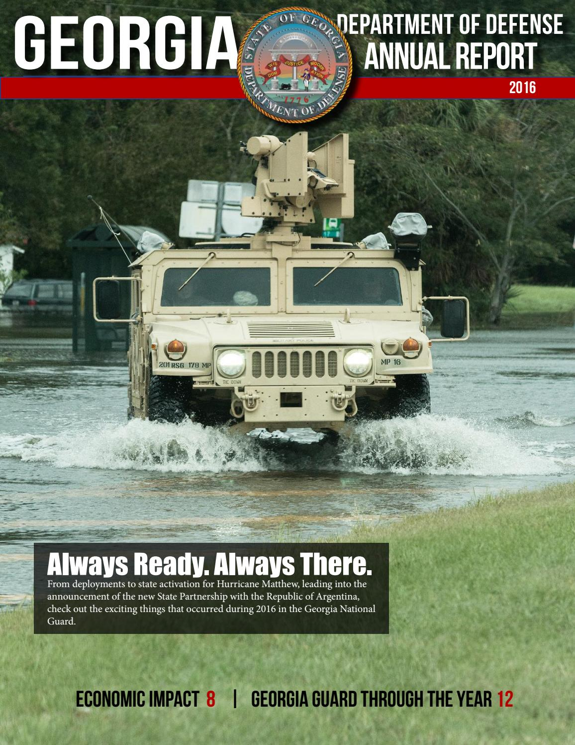 Annual Report 2016 by Georgia National Guard - issuu