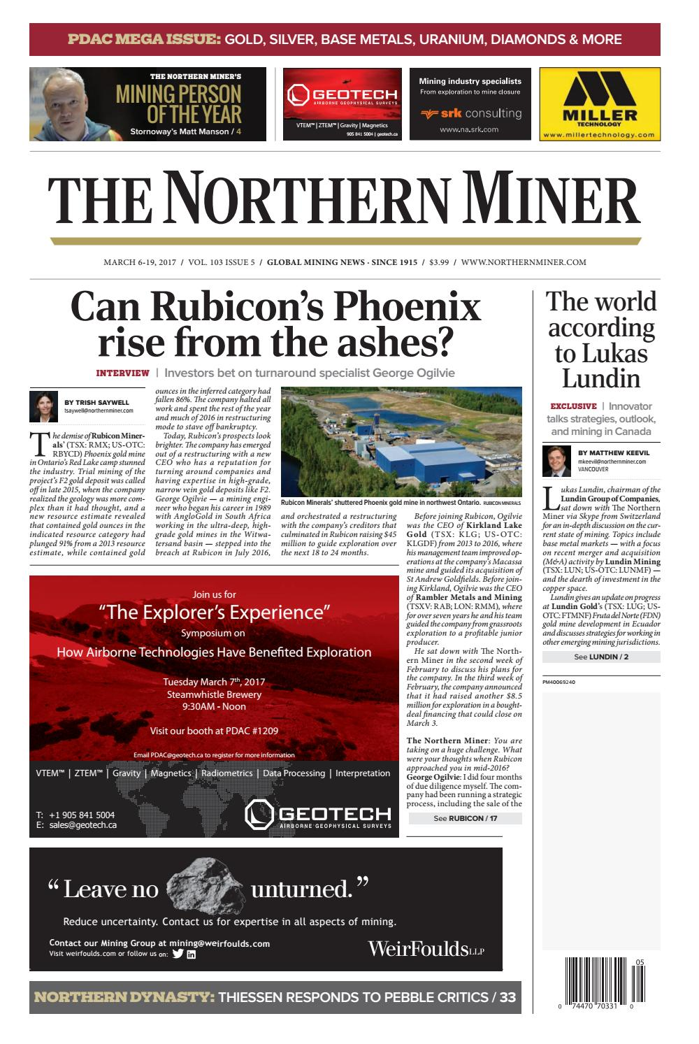 The Northern Miner March 6 2017 Issue by The Northern Miner Group ...