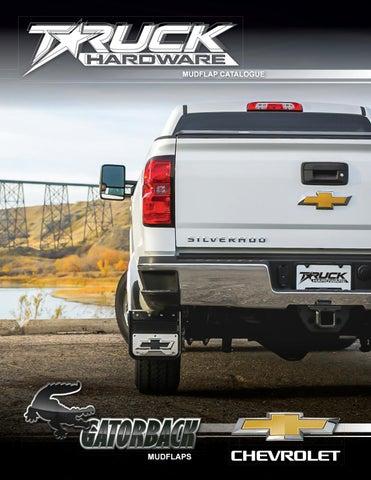 Gatorback GMC Denali Truck Mud Flaps Rear Dually Pair Black Wrap 21x24
