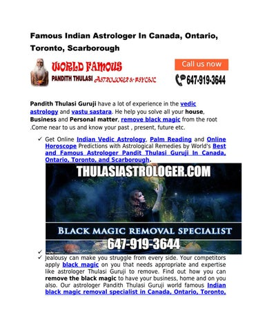 Famous Indian Astrologer In Canada, Ontario, Toronto, Scarborough by