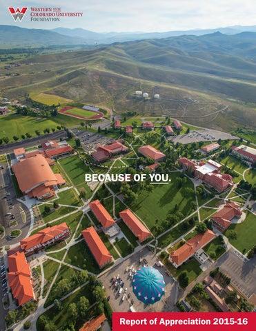 Western Colorado University >> Report Of Appreciation Western 2016 By Western Colorado