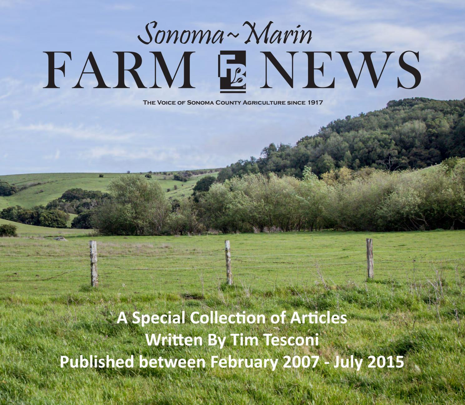 Sonoma marin farm news tim tesconi book by steve knudsen issuu aiddatafo Image collections