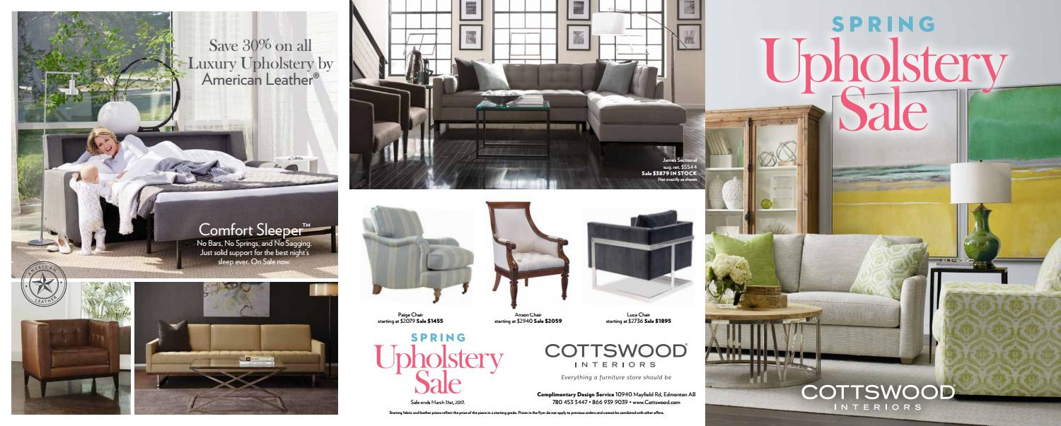 Cottswood Interiors March 2017 Upholstery Flyer By