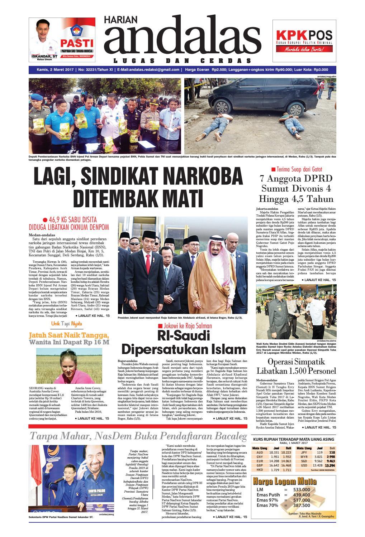Epaper Andalas Edisi Kamis 2 Februari 2017 By Media Issuu Fcenter Lemari Pakaian Wd Hk 1802 Sh Jawa Tengah Maret