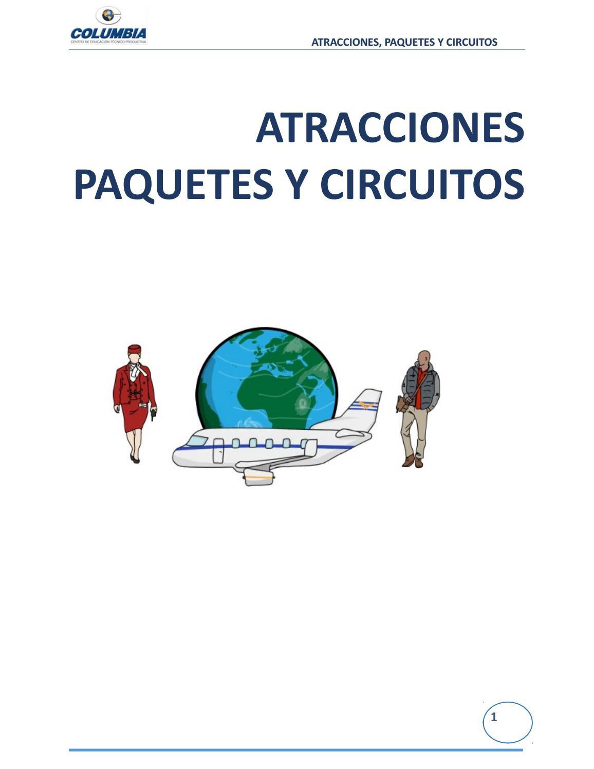 Separata De Atractivos Paquetes Y Circuitos Tur Sticos Ilustrada