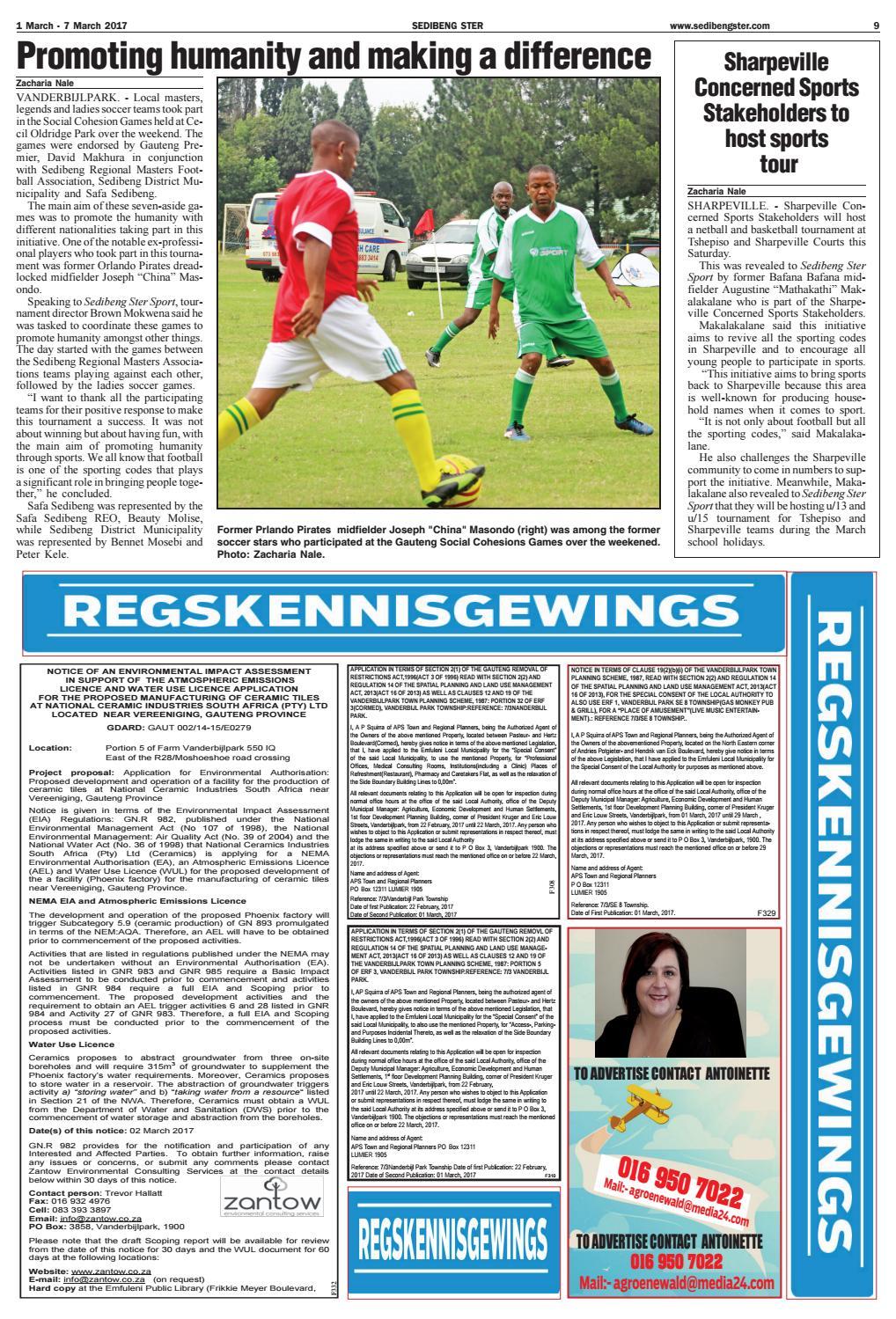 Sedibeng ster 1 7 march 2017 by Jannie Du Plessis - issuu