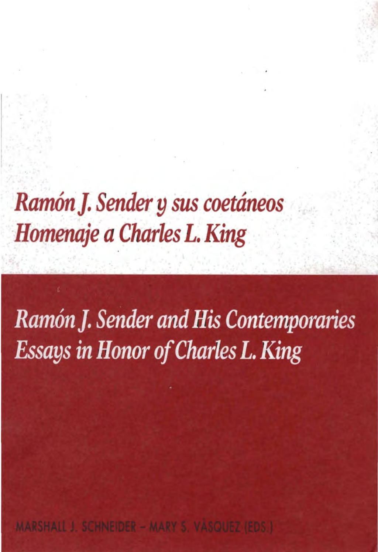 Ramón J Sender Y Sus Coetáneos By Diputación Provincial De
