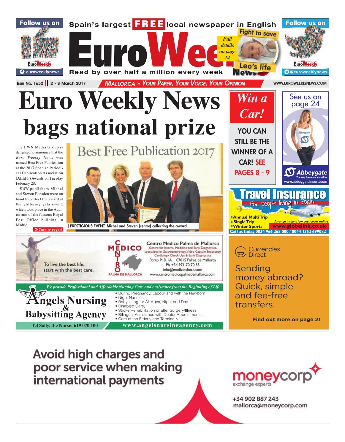 Euro weekly news mallorca 2 8 march 2017 issue 1652 by euro euro weekly news mallorca 2 8 march 2017 issue 1652 by euro weekly news media sa issuu fandeluxe Gallery