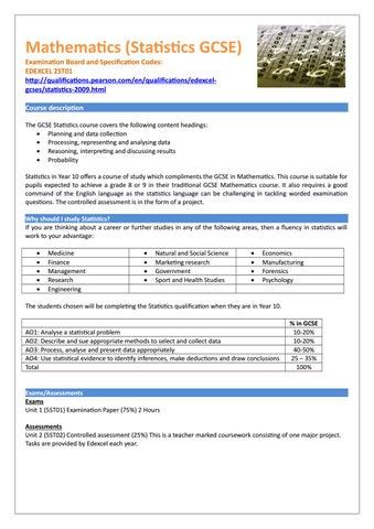 gcse statistics coursework plan