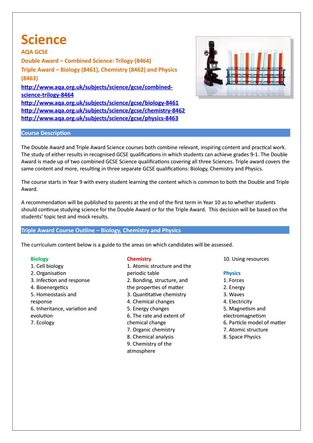 year 9 options guide by gems wellington academy silicon oasis issuu - Periodic Table Aqa Igcse
