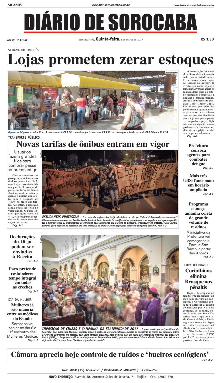 Edição 02 de março de 2017 by DIÁRIO DE SOROCABA - issuu 6e2ee1ef38138
