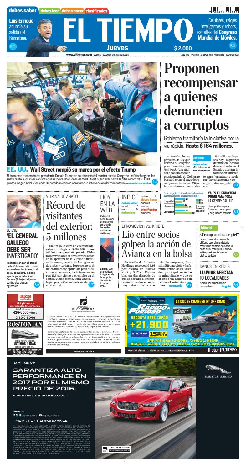 EL TIEMPO 02/03/2017 by Andres A. - issuu