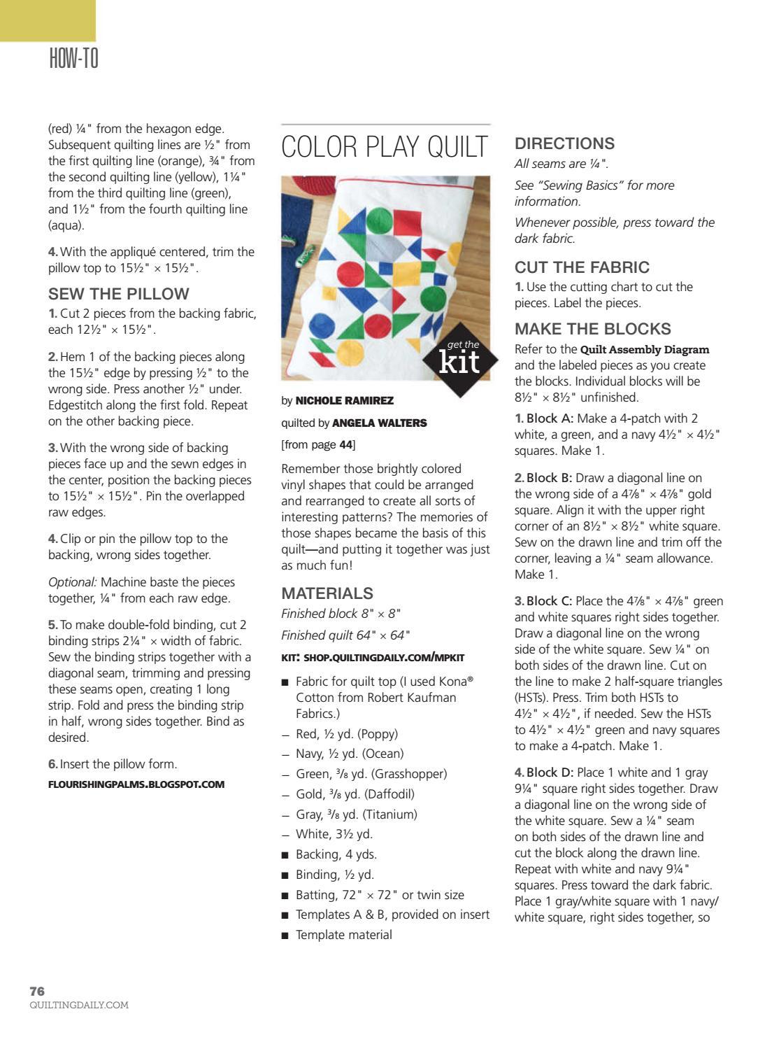 Modern patchwork fall 2015 usa by Norbert - issuu