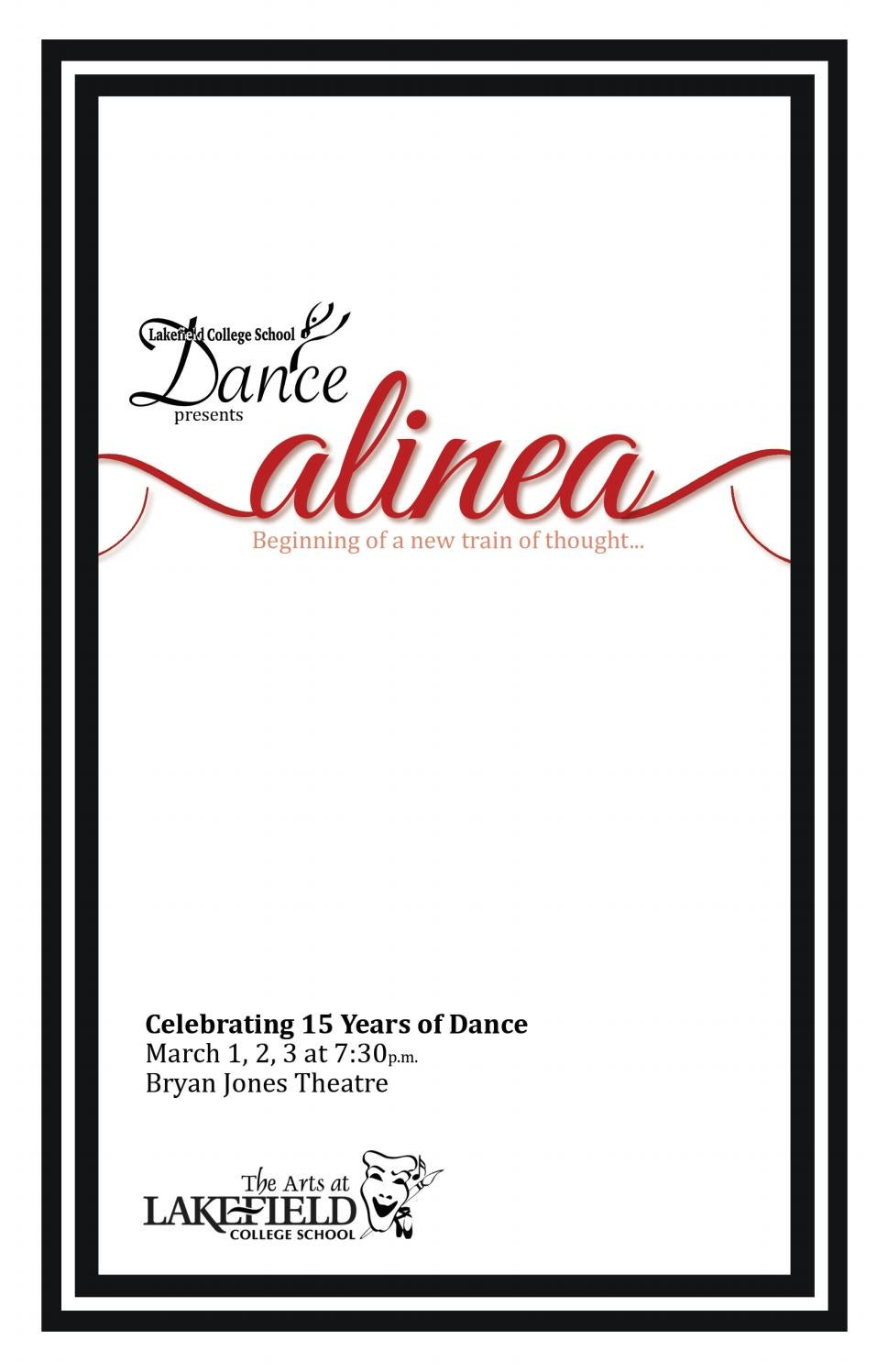 Dance Showcase 2017 - Alinea Program by Lakefield College