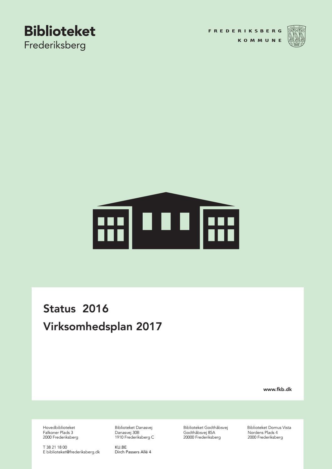 Virksomhedsplan 2017 By Frederiksberg Bibliotek Issuu