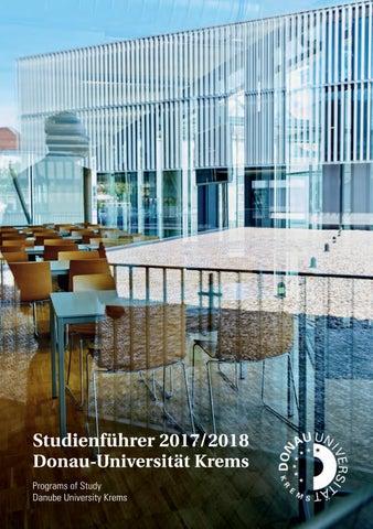 Studienführer 2017/18 by Donau-Universität Krems - issuu