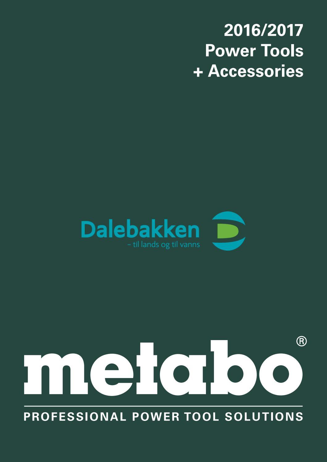 Metabo Elektroverkty By Dalebakken Maskin As Issuu Bosch Tool Set 108 Pcs Box Plastik 372