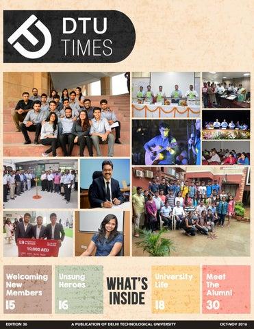 DTU Times, Edition 36 by DTU Times - issuu