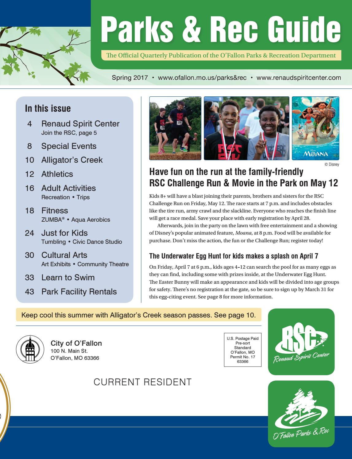 o'fallon parks and rec guide - spring 2017 by city of o'fallon - issuu