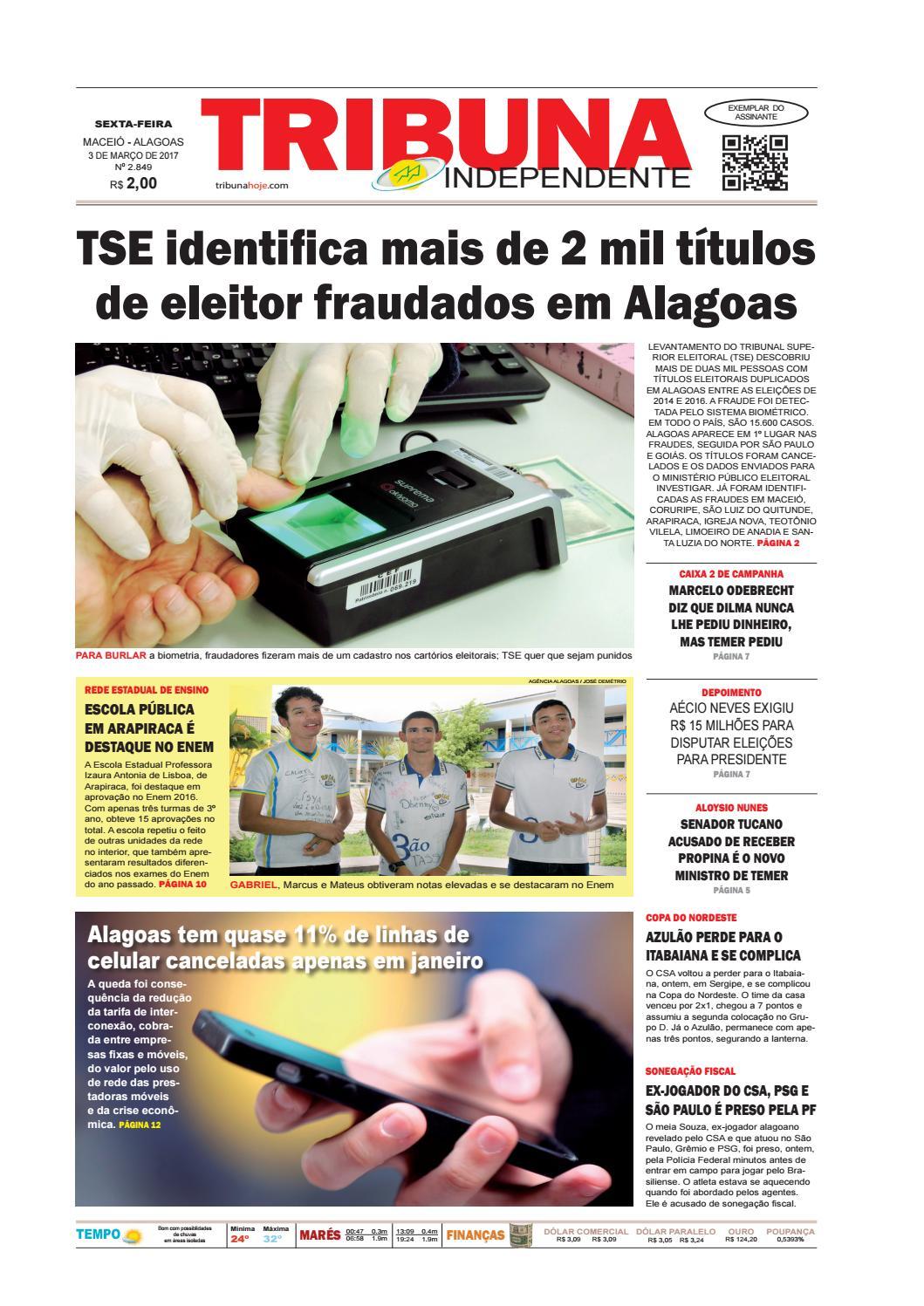 Edição número 2849 - 3 de março de 2017 by Tribuna Hoje - issuu c77225695dd19