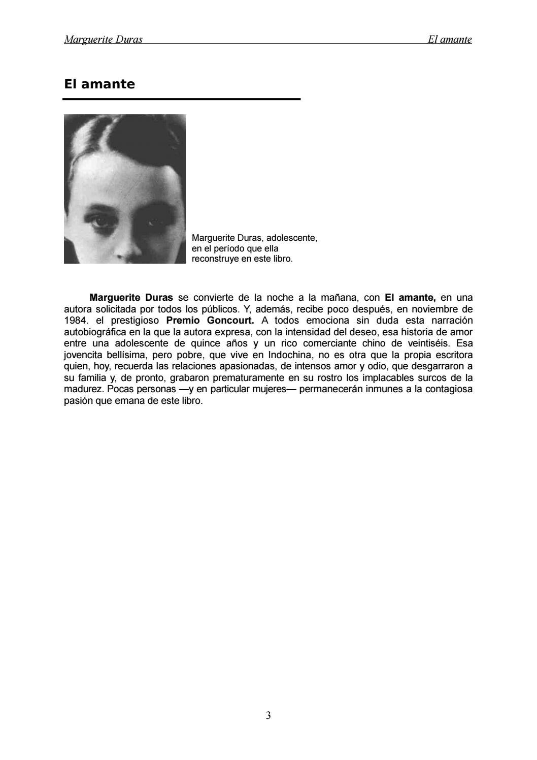 El Amante By Sala De Prensa Issuu