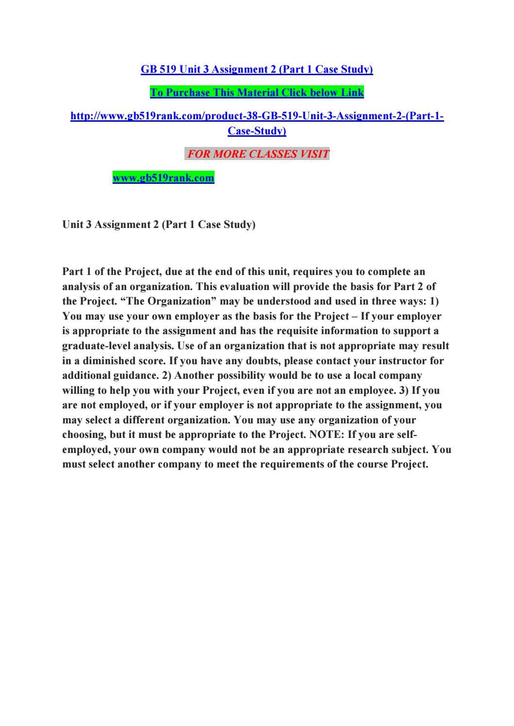gb519 unit 3 case study